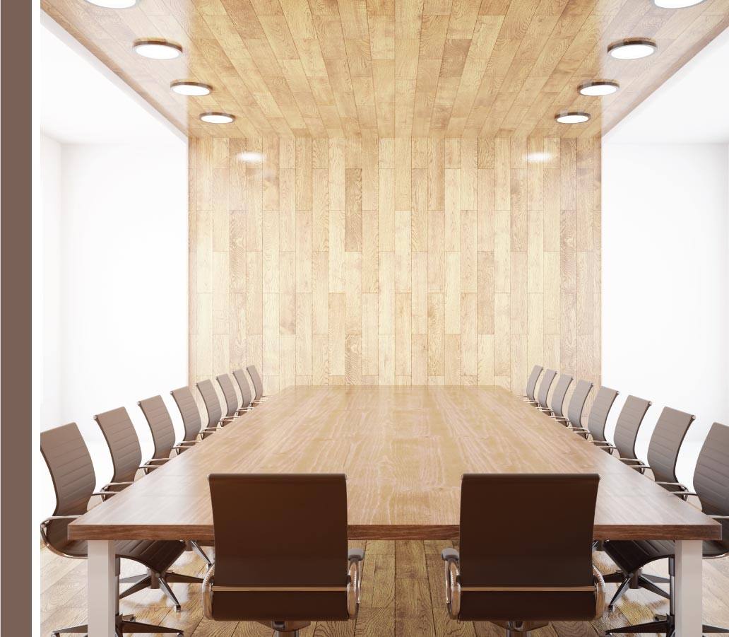 Modern executive boardroom
