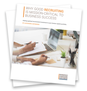Recruiting whitepaper cover: Why Good Recruiting is Mission-Critical to Business Success